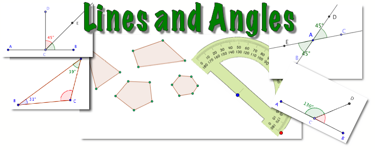 lines and angles properties sum of angles in triangle math video tutorials interactive applets